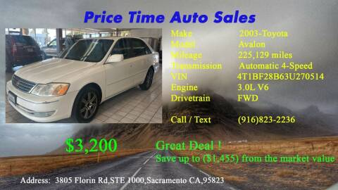 2003 Toyota Avalon for sale at PRICE TIME AUTO SALES in Sacramento CA