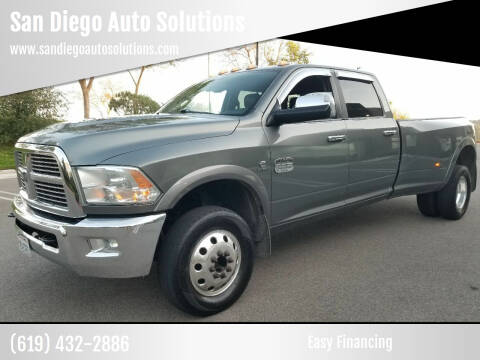 2012 RAM Ram Pickup 3500 for sale at San Diego Auto Solutions in Escondido CA