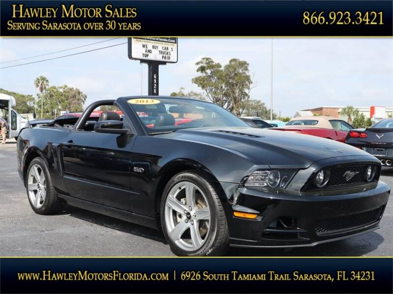 2013 Ford Mustang for sale at Hawley Motor Sales in Sarasota FL