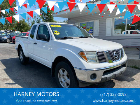 2005 Nissan Frontier for sale at HARNEY MOTORS in Gettysburg PA