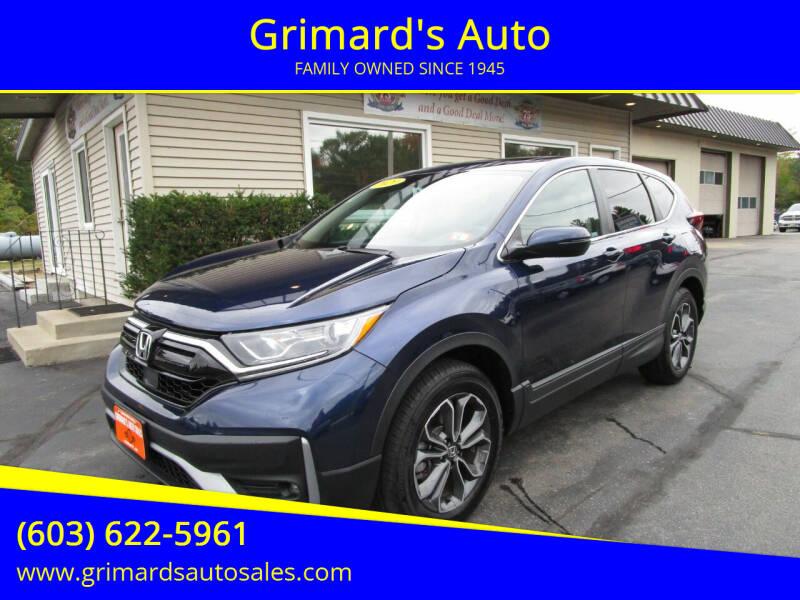 2020 Honda CR-V for sale at Grimard's Auto in Hooksett NH