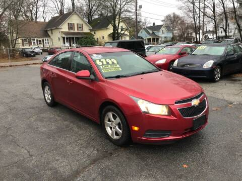 2011 Chevrolet Cruze for sale at Emory Street Auto Sales and Service in Attleboro MA