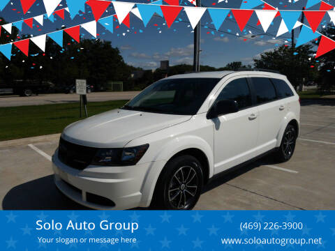 2018 Dodge Journey for sale at Solo Auto Group in Mckinney TX