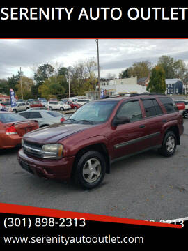 2004 Chevrolet TrailBlazer for sale at SERENITY AUTO OUTLET in Frederick MD