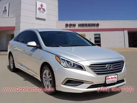 2017 Hyundai Sonata for sale at DON HERRING MITSUBISHI in Irving TX