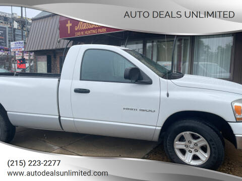 2006 Dodge Ram Pickup 1500 for sale at AUTO DEALS UNLIMITED in Philadelphia PA