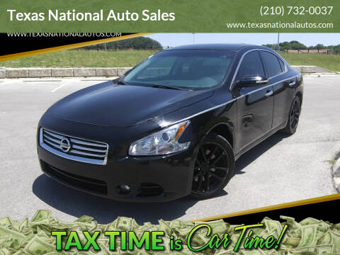 2013 Nissan Maxima for sale at Texas National Auto Sales in San Antonio TX