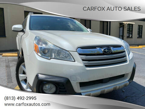 2013 Subaru Outback for sale at Carfox Auto Sales in Tampa FL