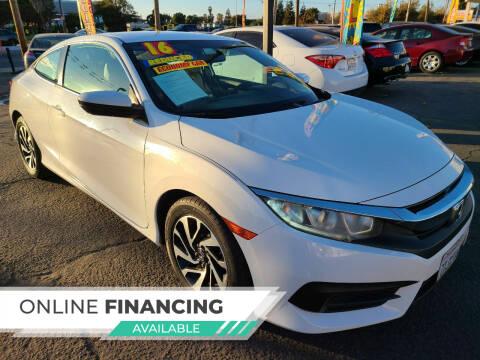 2016 Honda Civic for sale at Super Cars Sales Inc #1 - Super Auto Sales Inc #2 in Modesto CA
