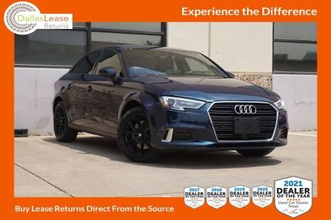 2018 Audi A3 for sale at Dallas Auto Finance in Dallas TX