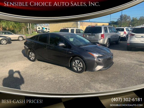 2016 Toyota Prius for sale at Sensible Choice Auto Sales, Inc. in Longwood FL