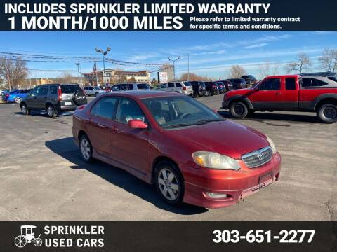 2004 Toyota Corolla for sale at Sprinkler Used Cars in Longmont CO