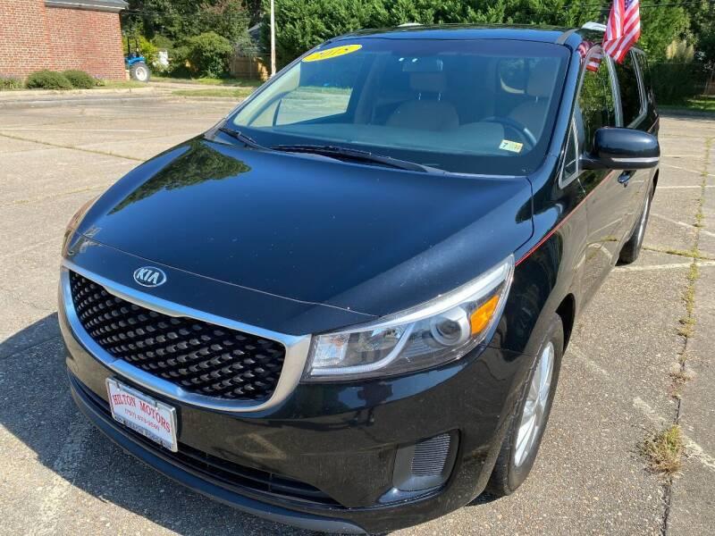 2015 Kia Sedona for sale at Hilton Motors Inc. in Newport News VA
