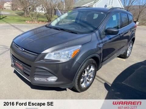 2016 Ford Escape for sale at Warren Auto Sales in Oxford NY