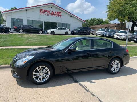 2013 Infiniti G37 Sedan for sale at Efkamp Auto Sales LLC in Des Moines IA