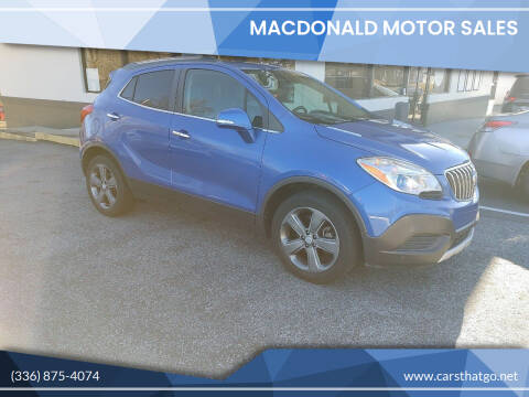 2014 Buick Encore for sale at MacDonald Motor Sales in High Point NC