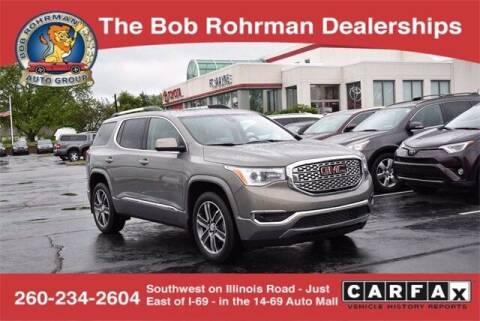2019 GMC Acadia for sale at BOB ROHRMAN FORT WAYNE TOYOTA in Fort Wayne IN