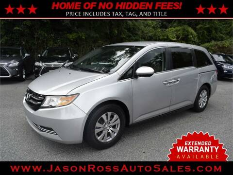 2015 Honda Odyssey for sale at Jason Ross Auto Sales in Burlington NC