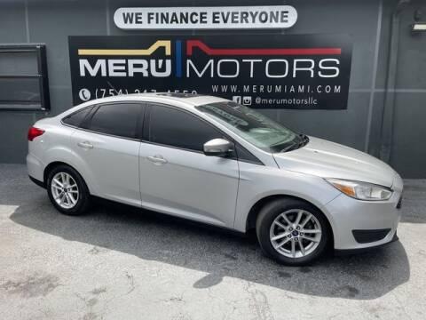 2016 Ford Focus for sale at Meru Motors in Hollywood FL