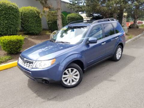 2011 Subaru Forester for sale at SS MOTORS LLC in Edmonds WA