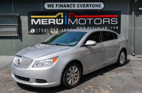 2012 Buick LaCrosse for sale at Meru Motors in Hollywood FL