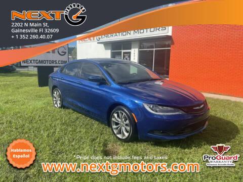 2015 Chrysler 200 for sale at Next G Motors in Gainesville FL