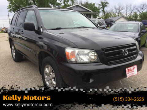 2004 Toyota Highlander for sale at Kelly Motors in Johnston IA