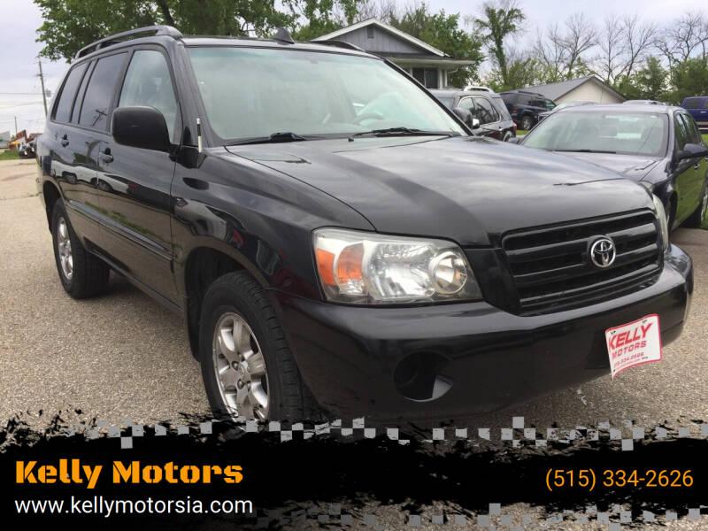 2004 Toyota Highlander for sale at Kelly Motors in Johnston IA