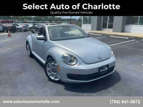 2013 Volkswagen Beetle Convertible for sale at Select Auto of Charlotte in Matthews NC
