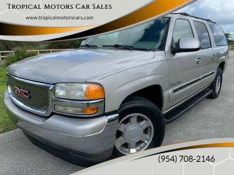 2005 GMC Yukon XL for sale at Tropical Motors Car Sales in Deerfield Beach FL