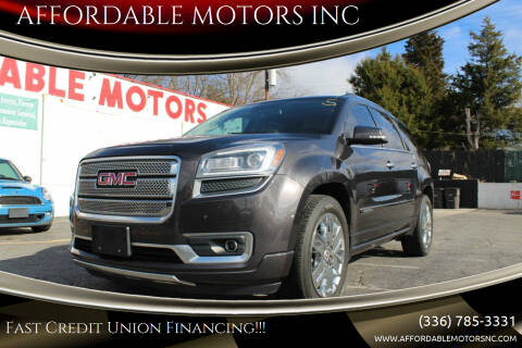 2015 GMC Acadia for sale at AFFORDABLE MOTORS INC in Winston Salem NC