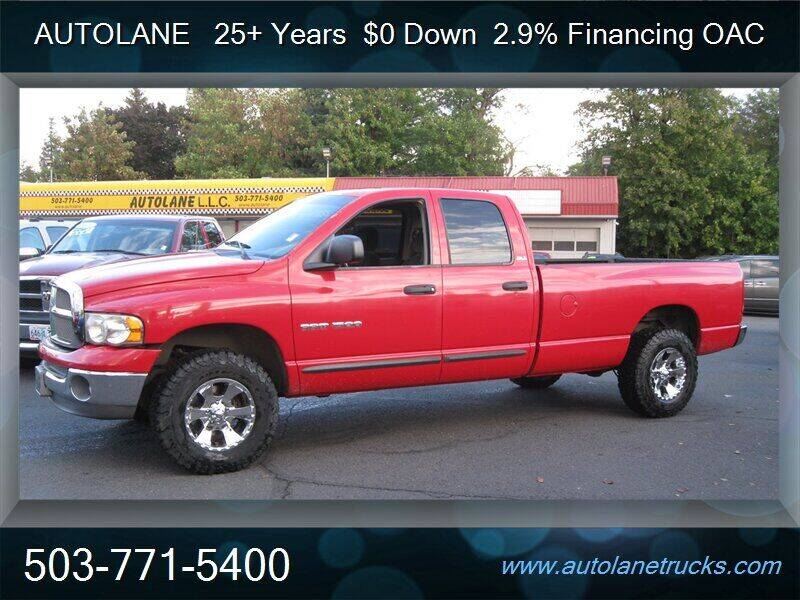 2002 Dodge Ram Pickup 1500 for sale at Auto Lane in Portland OR