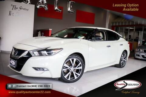 2016 Nissan Maxima for sale at Quality Auto Center of Springfield in Springfield NJ