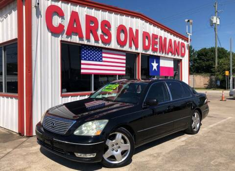 2006 Lexus LS 430 for sale at Cars On Demand 2 in Pasadena TX