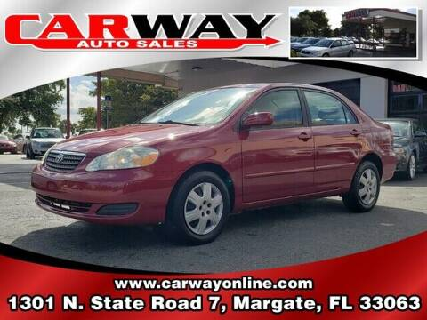 2005 Toyota Corolla for sale at CARWAY Auto Sales in Margate FL