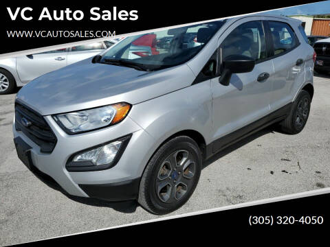 2018 Ford EcoSport for sale at VC Auto Sales in Miami FL