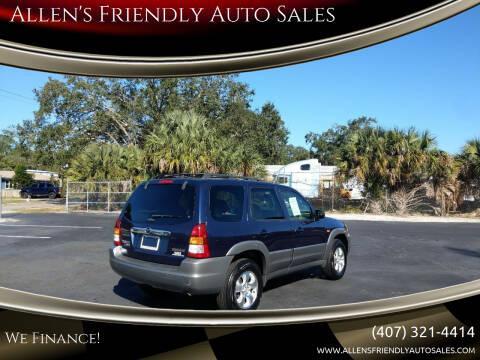2002 Mazda Tribute for sale at Allen's Friendly Auto Sales in Sanford FL