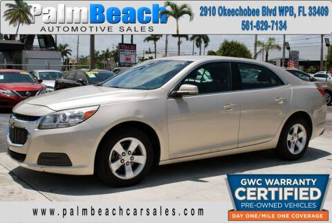 2016 Chevrolet Malibu Limited for sale at Palm Beach Automotive Sales in West Palm Beach FL