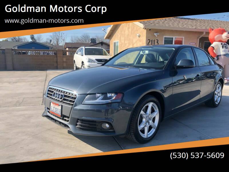 2009 Audi A4 for sale at Goldman Motors Corp in Stockton CA