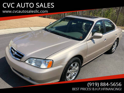 2000 Acura TL for sale at CVC AUTO SALES in Durham NC