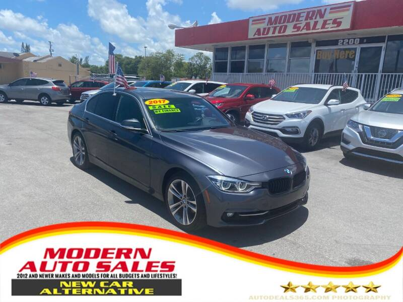 2017 BMW 3 Series for sale at Modern Auto Sales in Hollywood FL