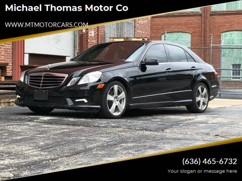 2011 Mercedes-Benz E-Class for sale at Michael Thomas Motor Co in Saint Charles MO