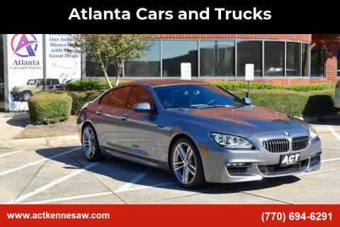 2015 BMW 6 Series for sale at Atlanta Cars and Trucks in Kennesaw GA