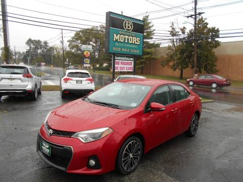 2014 Toyota Corolla for sale at Brookside Motors in Union NJ