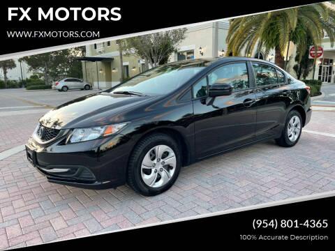 2015 Honda Civic for sale at FX MOTORS in Margate FL