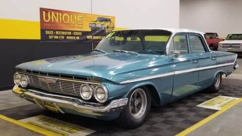 1961 Chevrolet Bel Air for sale at UNIQUE SPECIALTY & CLASSICS in Mankato MN