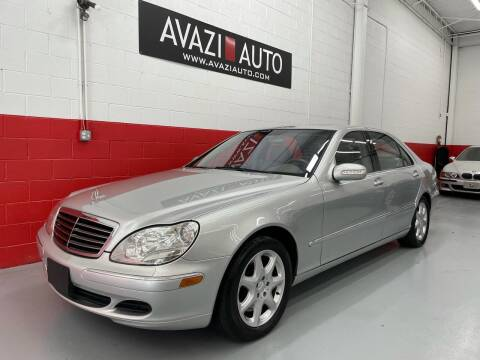 2003 Mercedes-Benz S-Class for sale at AVAZI AUTO GROUP LLC in Gaithersburg MD