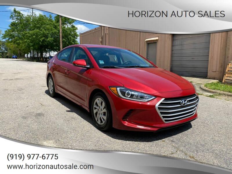 2017 Hyundai Elantra for sale at Horizon Auto Sales in Raleigh NC