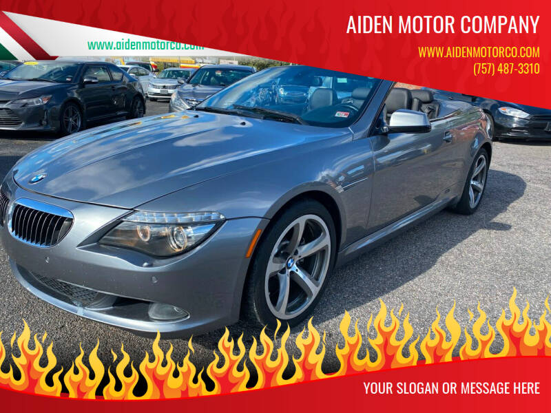 2010 BMW 6 Series for sale at Aiden Motor Company in Portsmouth VA