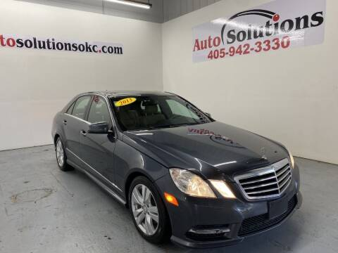 2013 Mercedes-Benz E-Class for sale at Auto Solutions in Warr Acres OK